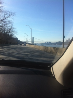 View of the GW Bridge as we get closer to my new home...